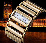 Luxury Rome Square Dial Metal Chain Band Womens Ladies Wrist Quartz Bracelet Bangle Watch