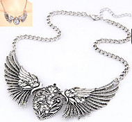Diamond Wings of Love Alloy  Statement Necklaces (Gold,Silver) 1pc