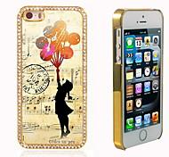 el brillo brillo híbrido girl diseño de lujo Bling con la caja de diamantes de imitación de cristal para el iphone 5 / 5s