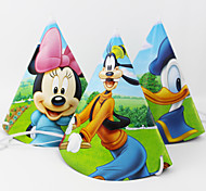 Disney NEW Arrival Party Supplies Cheering Toys Paper Hat Cartoon Hat Lovely Cap Child Favors 2015 Hot Sale 12pcs Price