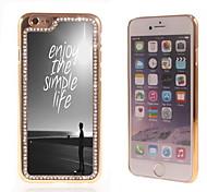 das Leben genießen Design Luxus-Hybrid-Bling Funkeln-Funkeln mit Kristallrhinestone-Kasten für iPhone 6