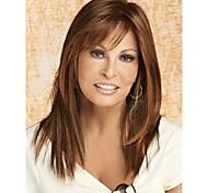 2015 cheveux synthétiques perruques mix brun pour les femmes avec frange supernova vente