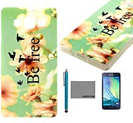 COCO FUN® Be Free Pattern Soft TPU Back Case Cover with Screen Protector and Stylus for Samsung Galaxy A3