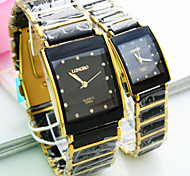 Couple's New Explosion Square Dial Ceramic Band Fashion Quartz Watch (Assorted Colors) Cool Watches Unique Watches