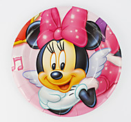 Kids Birthday Party Decorations Minnie Mouse  Paper Plates 7'' Party Supplies Plates Event Party Supplies 12pcs/lot