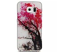 Relief Painting Cherry Tree Pattern 0.2 Slim TPU Protective Shell for Samsung Galaxy  S6 Edge