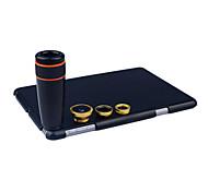 Apexel  4 in 1 Lens Kit 8X Black Telescope lens+Fisheye lens+Wide-angle+Macro Camera Lens  with Case for iPad mini 2/3