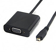Black Micro HDMI Male to VGA SVGA Female Converter Adapter Cable for Xbox PS3 PS4
