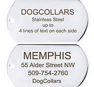 Personalized Free Engraving Stainless Steel Dog ID Tag (Assorted Sizes)