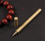 Fashion Retro Copper Multi-Function Outdoor Self-Defense Tactical Pen