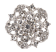 Clear Women's Party Flower Brooch Broach Pins Jewelry Rhinestone