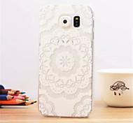 Big white flower Pattern Dermatoglyph Plastic Hard Back Cover for Samsung Galaxy S6