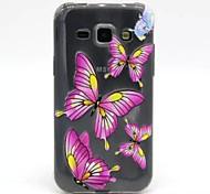 Reliefmalerei lila Schmetterlingsmuster 0,2 slim TPU Schutzschale für Samsung-Galaxie j1