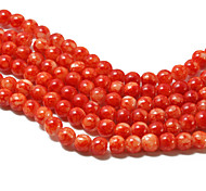 3Str(Apx.140pcs/Str) Beadia Fashion Glass Beads 6mm Round Orange Mottled Color DIY Spacer Loose Beads
