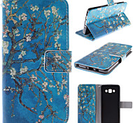 The Old Tree Flower Design PU Leather Stand Case with Card Slot for Samsung Galaxy A5