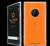 For Nokia Case Transparent Case Back Cover Case Solid Color Hard PC Nokia Nokia Lumia 830