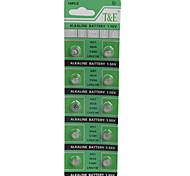 T&E AG1/LR621/364/SR621SW/164 High Capacity Button  Batteries (10PCS)