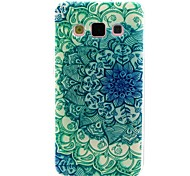The Peacock Flower Pattern TPU Soft Case for Galaxy A5