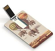 Globo de fuego de 32gb y diseño del elefante tarjeta de patrón de unidad flash USB