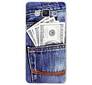 os bolsos do padrão de relevo pintura plástico caso tampa traseira moeda para Samsung Galaxy a5