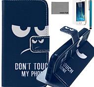 Coco fun® não toque padrão de capa de couro pu com protetor de tela e cabo USB e caneta para iPhone 5 / 5s