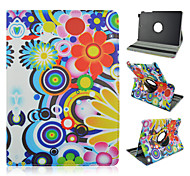 For Samsung Galaxy Case with Stand / Flip / 360° Rotation / Pattern Case Full Body Case Flower PU Leather Samsung Tab A 9.7