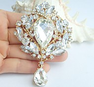 Bridal Accessories Gold-tone Clear Rhinestone Crystal Bridal Brooch Wedding Deco Bridal Bouquet Wedding Brooch