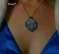 Eruner® Pendant Necklace Glow In The Dark Heart Of Neptune Steampunk Jewelry New Luminous 3colors