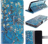 старый дизайн дерево цветок искусственная кожа Полный чехол для тела с слотом для карт iPhone 5 / 5s