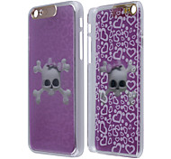 Bow Skull Pattern LED Flash Light Protective PC Back Case for iPhone 6 Plus