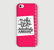 Make Today Pattern PC Phone Case Back Cover for iPhone 6 Case