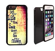 gesetzt Ihrem Leben auf Feuer Muster 2 in 1-Hybrid Rüstung Ganzkörper-Dual-Layer-Schock-Schutz schlanke Fall für iPhone 6 Plus