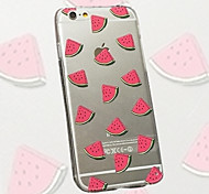 Small Fresh Watermelon Pattern Slim Acrylic and TPU Combo Phone Case for iPhone 6s 6 Plus
