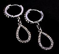 Fashion Jewelry Rhinestone Oval Drop Earrings