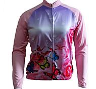 Tops -( Rose dragée/Voir l'image ) de Cyclisme -Respirable/Perméabilité à l'humidité/Séchage rapide/Zip frontal/Design