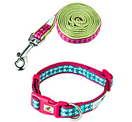 Fashion Check Pattern Collar & Leash Set for Dogs and Cats (Assorted Sizes)
