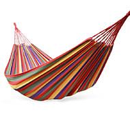 naphele corda de algodão portátil balanço ao ar livre tecido acampamento rede pendurada dimensão cama de lona 200 * 100 centímetros