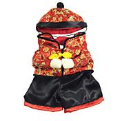 chinesische Art Hundekostüm Seidentuch für neue Jahr (verschiedenen Größen)