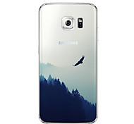 Asuka Muster slim transparente TPU-Material-Telefonkasten für Samsung-Galaxie s6 Rand