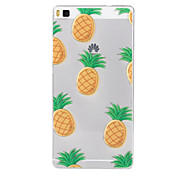 Pineapple Pattern TPU Soft Case for Huawei Ascend P8