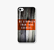 Bark Mode Pattern PC  Phone Case Back Cover Case for iPhone4/4S