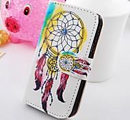 dreamcatcher vuelta alrededor de la cartera del cuero del soporte de la PU para i9100 SII Samsung Galaxy S2