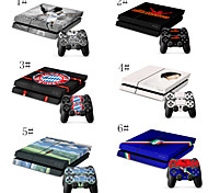 Fashion Prints and Patterns Vinyl Skin Designer Console and Free Controller Sticker Decal for PS4