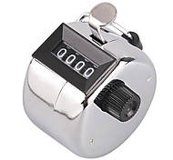 Hand Tally Click Counter with 4 Digital Number Finger Display Silver