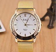 Women's Round Dial Case Leather Watch Brand Fashion Quartz Watch