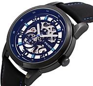 Watch Men's Leatherette Mechanical Wrist Watch