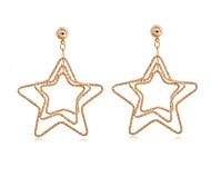 Women's Fashion 18K Gold plated  Star Earrings