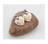 SUMNI Texture Vintage Heart-shaped Earrings*1pc