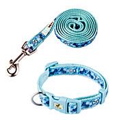 Cute Dog Bone Pattern Pet Collar & Leash Set for Pet Dogs (Assorted Sizes)