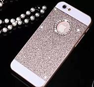 bling de luxe solide cas de couverture de paillettes avec trou pour iPhone 6 (couleurs assorties)